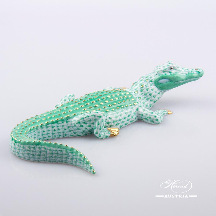 Alligator 15540-0-00 VHV Green - Herend Animal Figurine