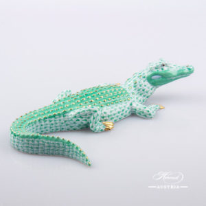 Alligator 15540-0-00 VHV Green - Herend Animal Figurine