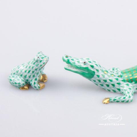 Alligator small 15971-0-00 VHV Green - Herend Animal Figurine