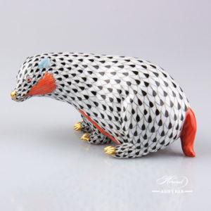 Badger 15367-0-00 VHN Black - Herend Animal Figurine
