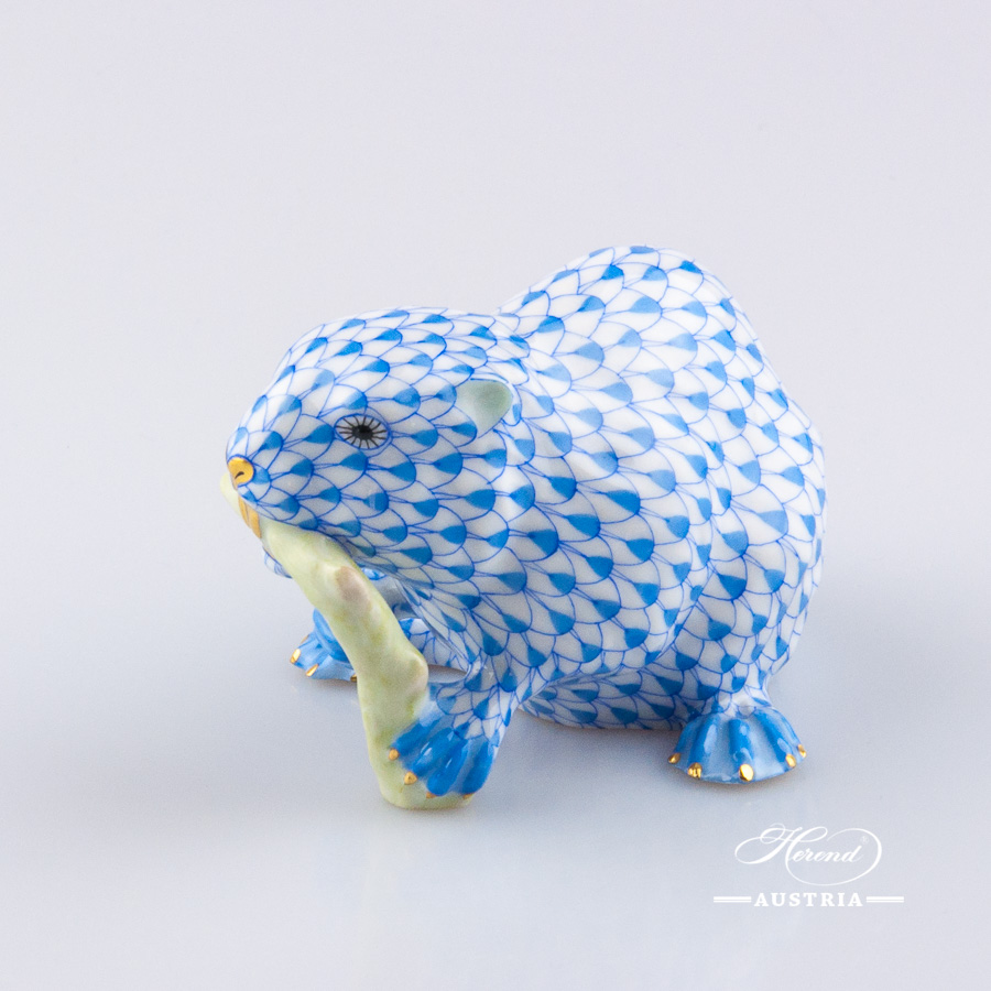 Beaver 15425-0-00 VHB Blue - Herend Animal Figurine