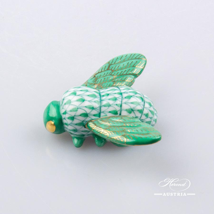 Bee 15065-0-00 VHVM Green - Herend Animal Figurine