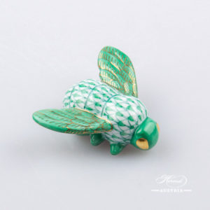 Bee 15065-0-00 VHVM Green - Herend Animal Figurine