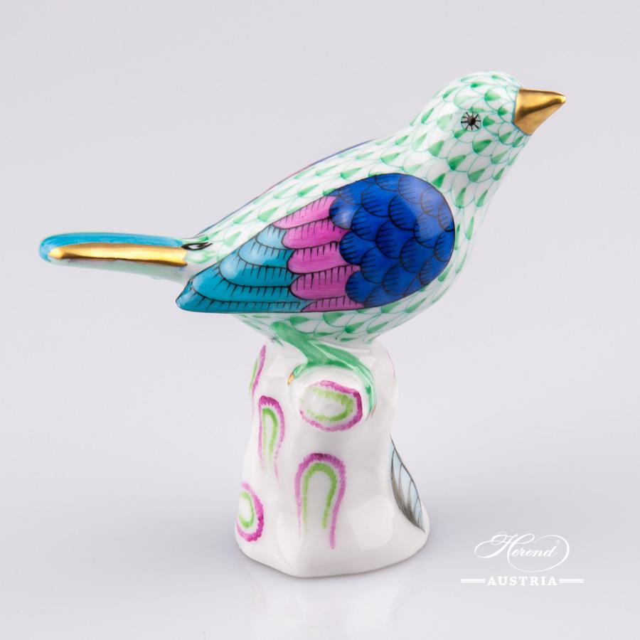 Bird Small 5048-0-00 VHV Green - Herend Animal Figurine
