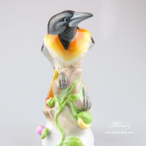 Blackbird Brazil 5064-0-00 VHSP56 Black - Herend Animal Figurine