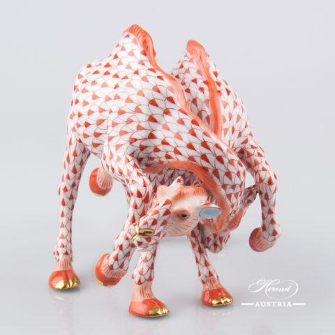 Camel Fight 15572-0-00 VHR Red - Herend Porcelain Animal Figurine