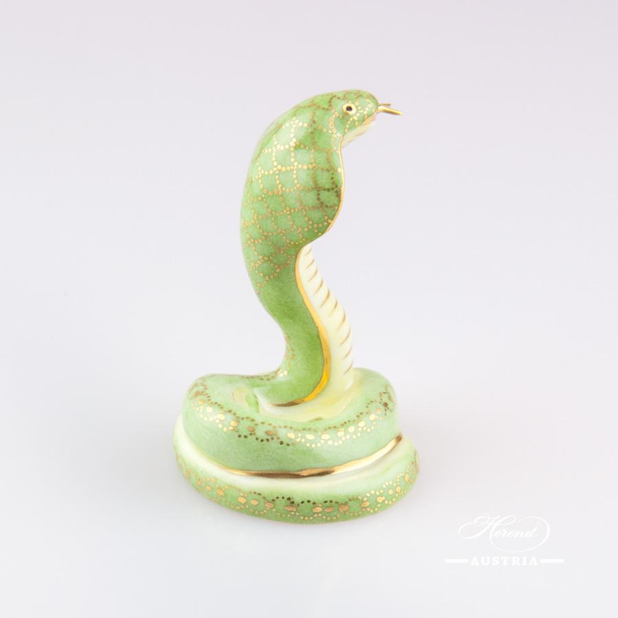 Cobra 15340-0-00 CO-V1 Green - Herend Animal Figurine