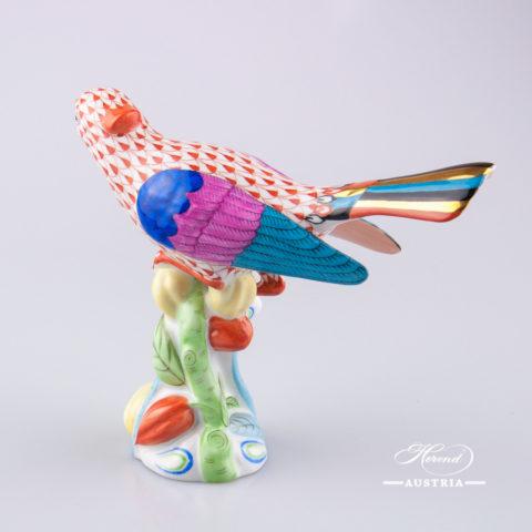 Cuckoo 5109-0-00 VHR Red- Herend Animal Figurine