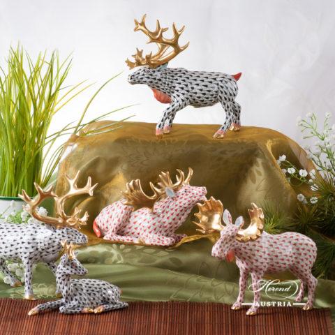Group of Herend Deers VH fishnet