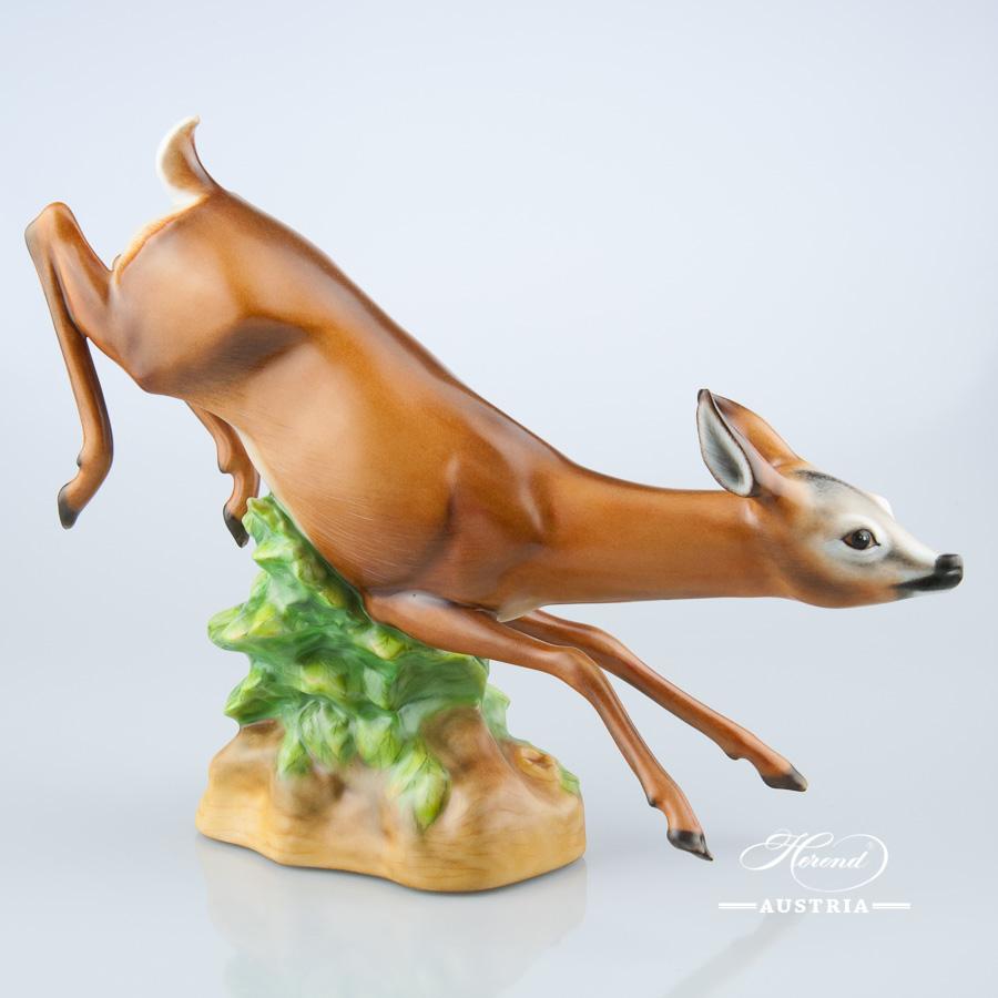 Deer Jumping 16261-0-00 MCD Naturalistic - Herend Animal Figurine