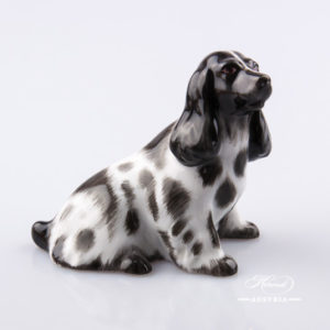 "Dog - Spaniel 15455-0-00 BNCD Naturalistic decor. Herend Fine china animal figurine. Hand painted. Length: 9.5 cm (3.75""L)"