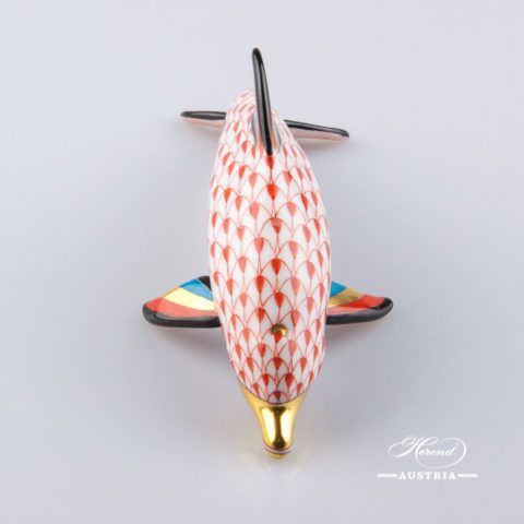 Dolphin 15395-0-00 VHR Red - Herend Animal Figurine