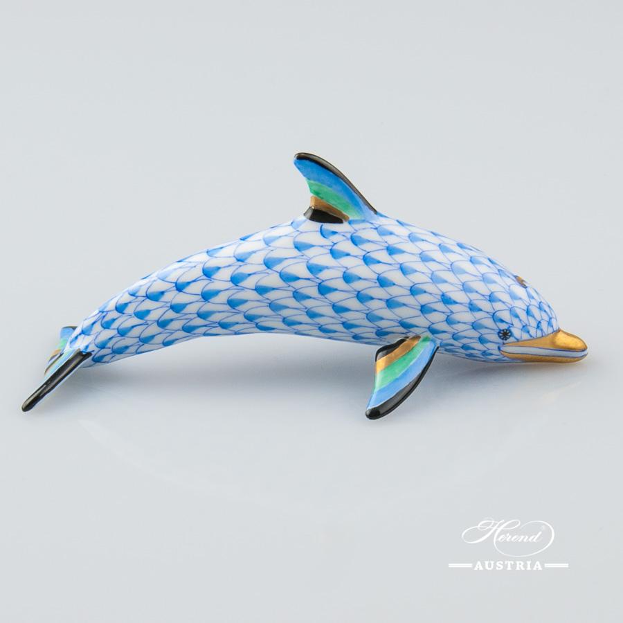 Dolphin 15396-0-00 VHB Blue - Herend Animal Figurine
