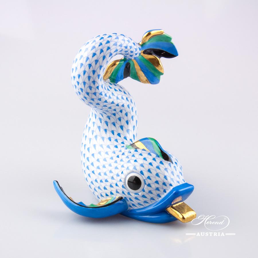 Dolphin 15398-0-00 VHB Blue - Herend Animal Figurine