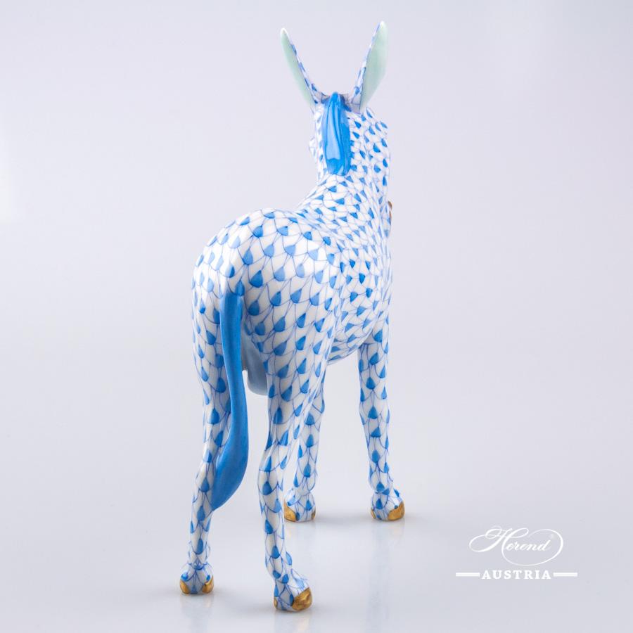 Donkey 15502-0-00 VHB Blue - Herend Animal Figurine
