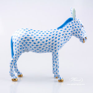Donkey 15502-0-00 VHB Blue - Herend Animal Figurine