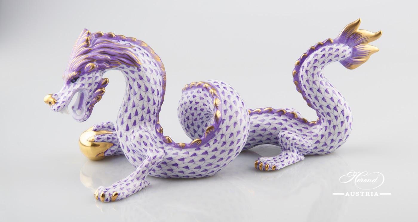 Dragon 15601-0-00 VHL Violet - Herend Animal Figurine