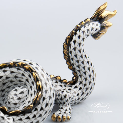 Dragon 15601-0-00 VHNM Black - Herend Animal Figurine