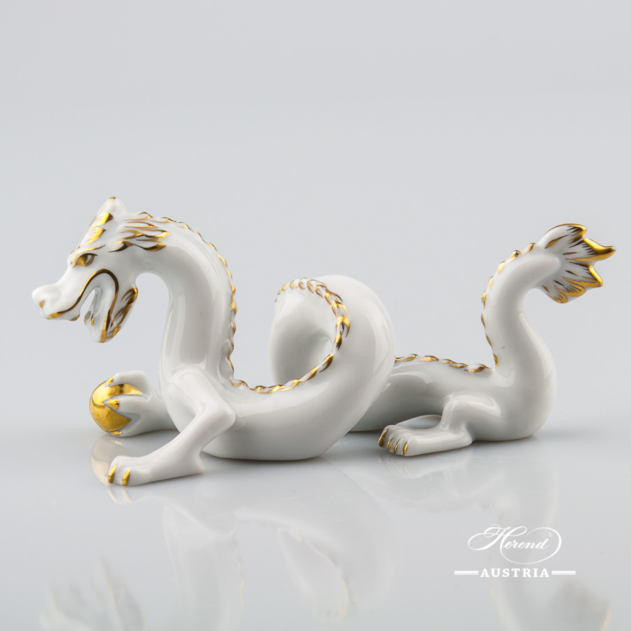 Dragon small 15070-0-00 A-OR White - Herend Animal Figurine