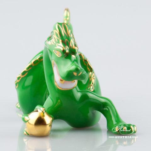 Dragon small 15070-0-00 C-V Green - Herend Animal Figurine