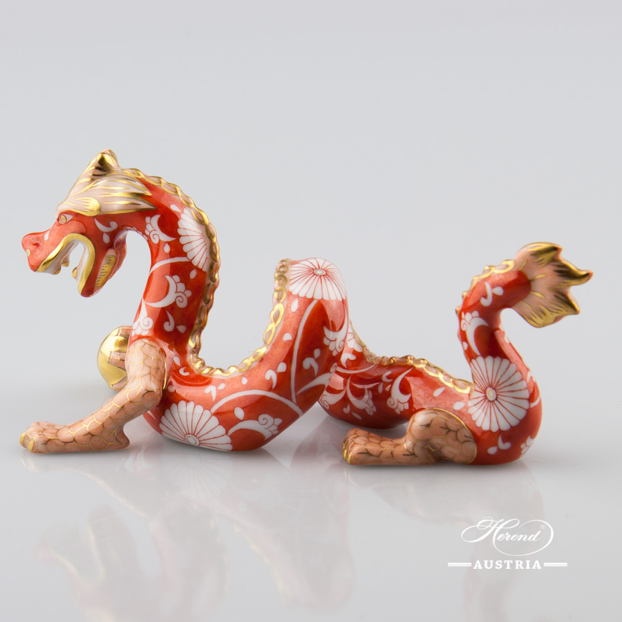 Dragon small 15070-0-00 CHRYS Red - Herend Animal Figurine