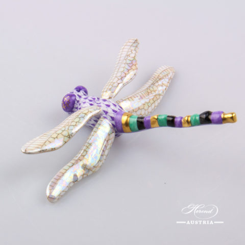 Dragonfly 15918-0-00 VHL Violet - Herend Animal Figurine