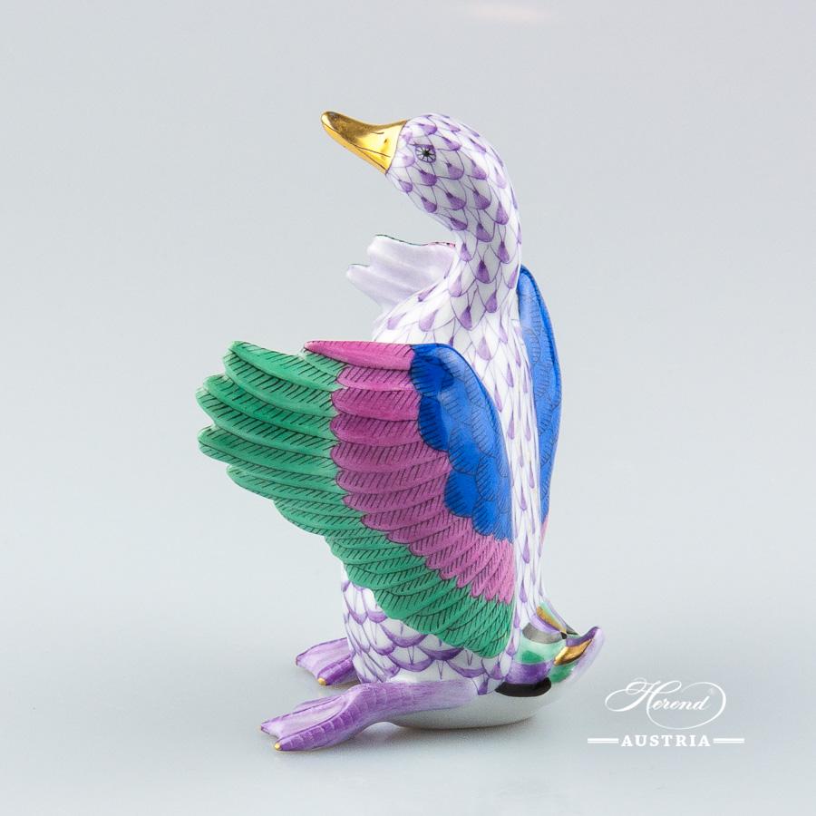 Duck 15588-0-00 VHL Violet - Herend Animal Figurine