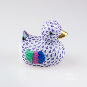 Duck 15239-0-00 VHL Violet - Herend Animal Figurine