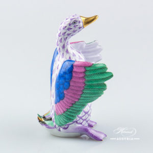 Duck 15588-0-00 VHL Violet - Herend Animal Figurine