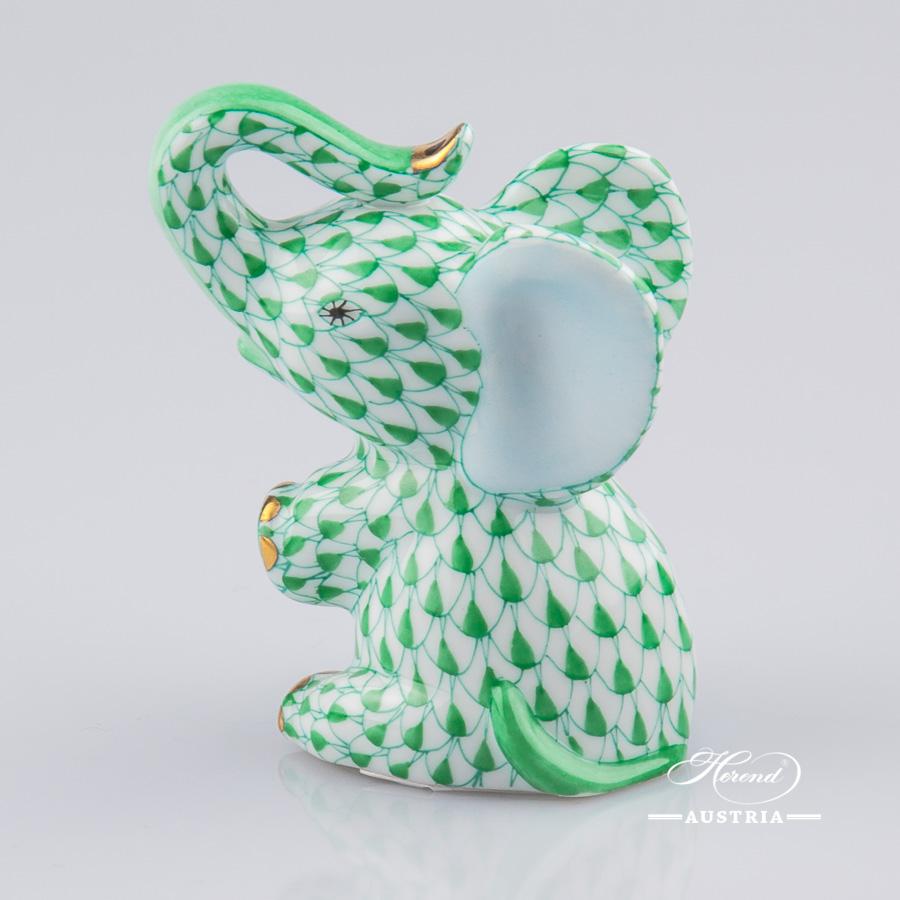 Crocodile Baby 15930-0-00 VHV Green - Herend Animal Figurine