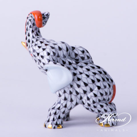 """Chicken 5023-0-00 VHJM Yellow Fish scale new design. Herend fine china animal figurine. Hand painted. Height 6 cm (2.25""""H)."""