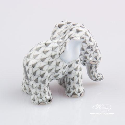 Fo Dog small 5304-0-00 VHG-PT Grey - Herend Fine china Animal Figurine