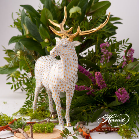 """Herend fine china animal figurine. Hand painted. Height 23 cm (9""""H)."""