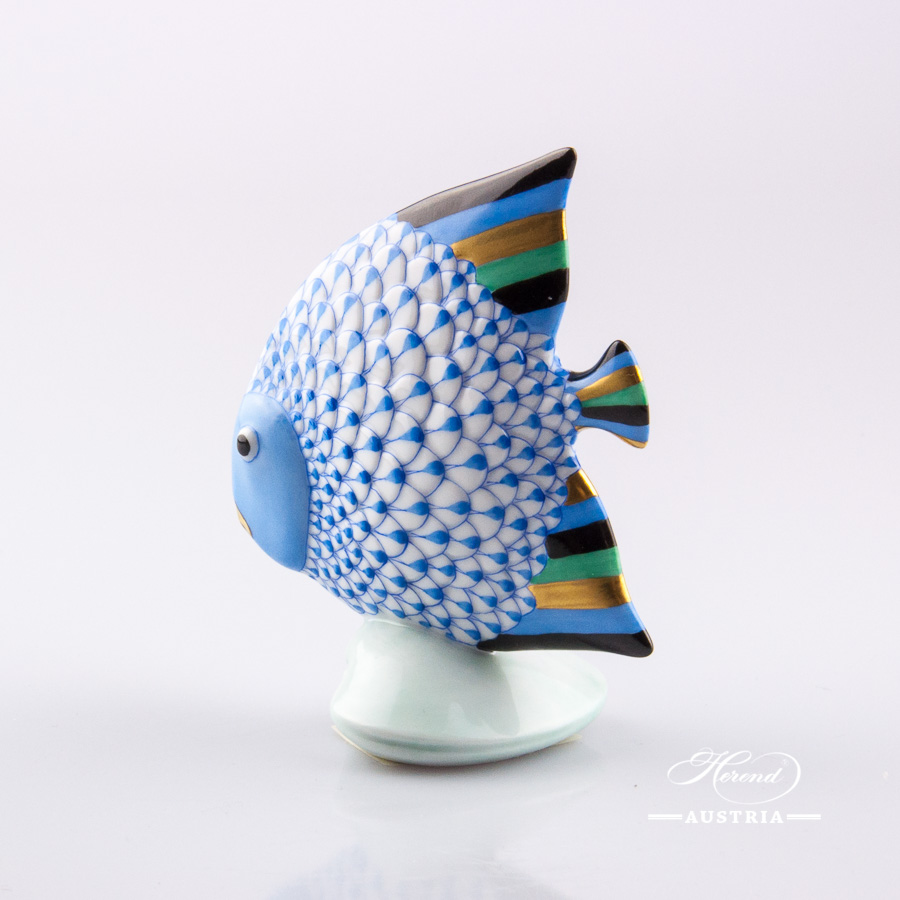 Fish 15893-0-00 VHB Blue - Herend Animal Figurine