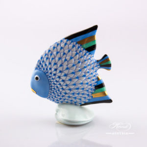 Fish 15893-0-00 VHB Blue - Herend Animal Figurine