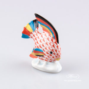 Fish 5295-0-00 VHR Red - Herend Animal Figurine