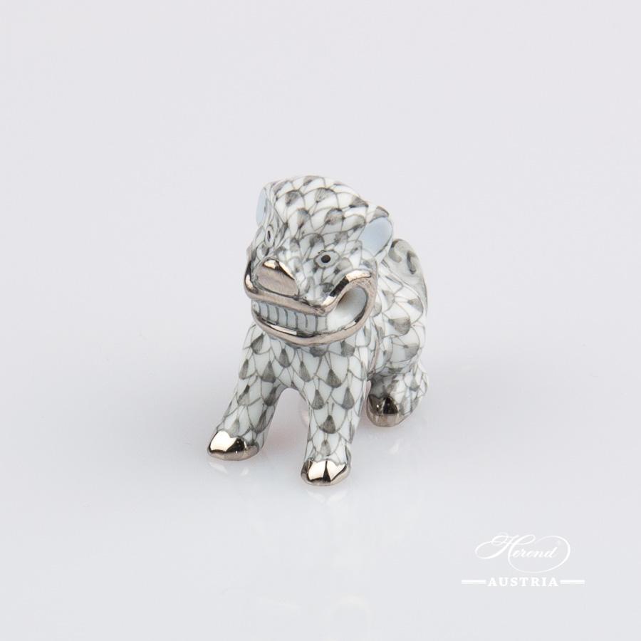 Fo Dog small 5304-0-00 VHN Black - Herend Fine china Animal Figurine
