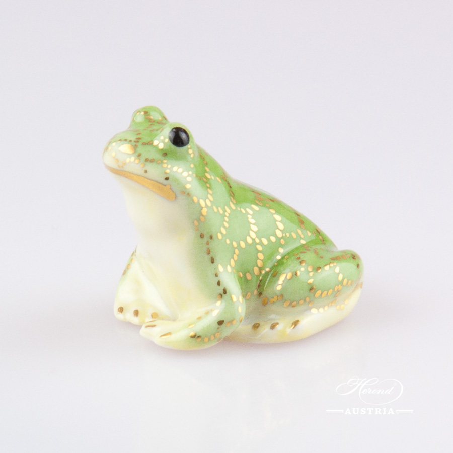 Frog 15975-0-00 VHV-OR Green - Herend Animal Figurine