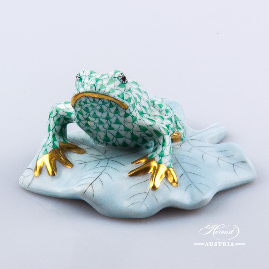 Frog 5355-0-00 VHV Green - Herend Animal Figurine