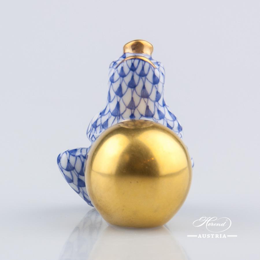 Frog Prince 15369-0-00 VHFB Blue - Herend Animal Figurine