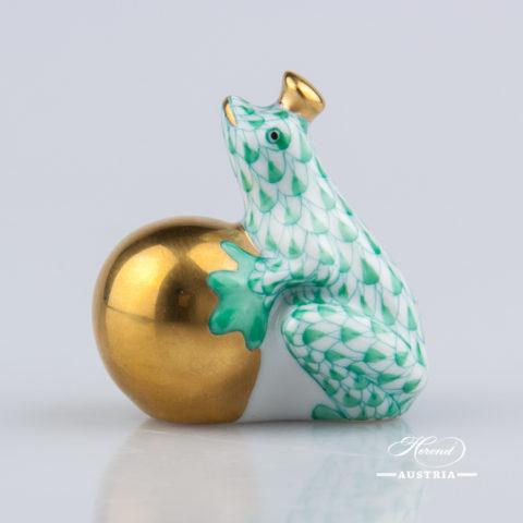 Frog Prince 15369-0-00 VHV Green - Herend Animal Figurine