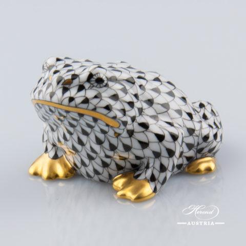 Frog Toad 15321-0-00 VHNM Black - Herend Animal Figurine