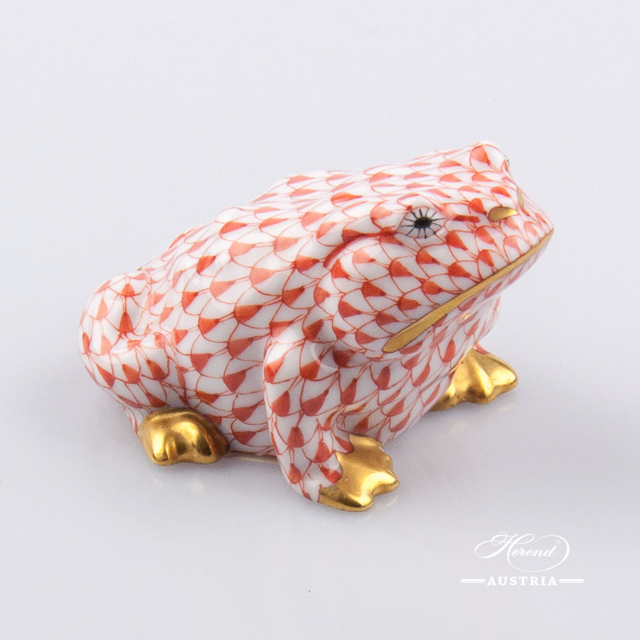 Frog Toad 15321-0-00 VHR Red - Herend Animal Figurine