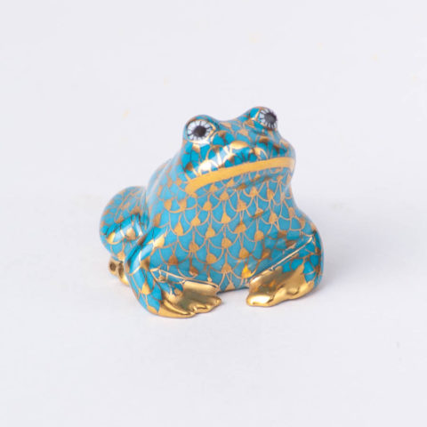 """Frog 15975-0-00 - Herend fine china animal figurines. Hand painted. Length 3.5 cm (1.5""""L)."""