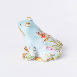 "Chicken 5023-0-00 VHVM Green Fish scale new design. Herend fine china animal figurine. Hand painted. Height 6 cm (2.25""H)."