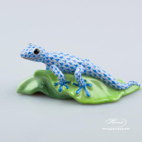 Gecko 15915-0-00 VHB Blue - Herend Animal Figurine