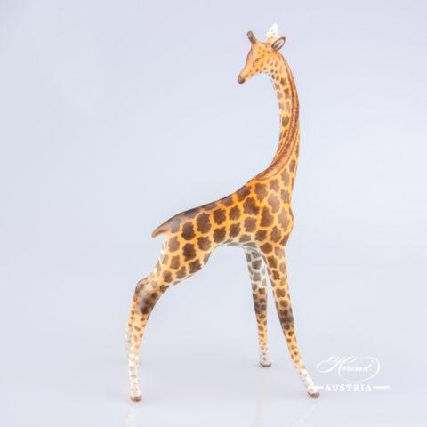 "Giraffe 15329-0-00 MCD Naturalistic decor. Herend fine china animal figurine. Hand painted. Height 19.5 cm (7.75""H)"