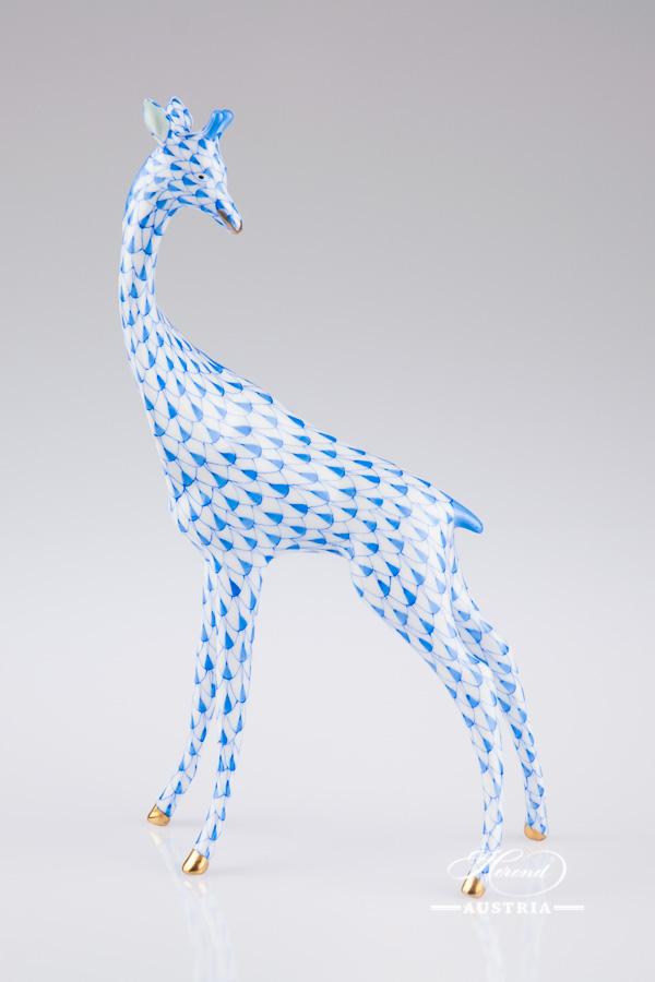 Parrot standing 5004-0-00 VHB Blue - Herend Animal Figurine