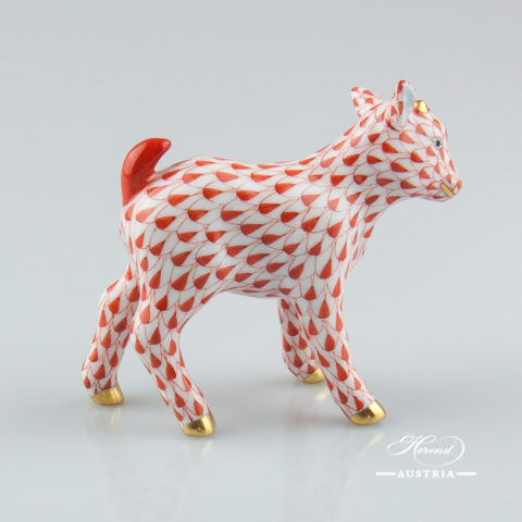 Goat Baby 15718-0-00 VHR Red - Herend Animal Figurine
