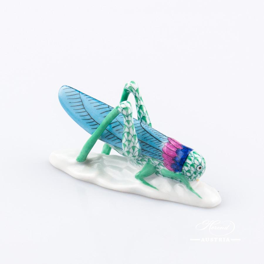 Grasshopper 5258-0-00 VHV Green - Herend Animal Figurine